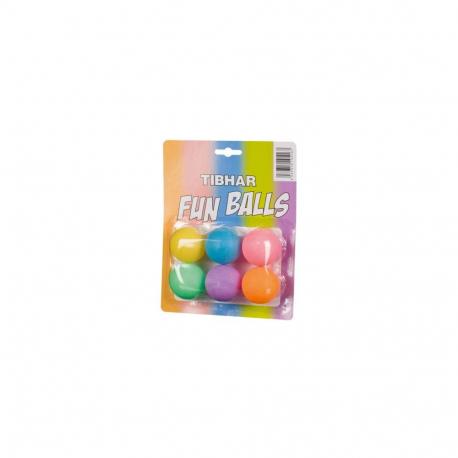 Stolnotenisové loptičky TIBHAR-Tibhar Funballs, x6, multicolor