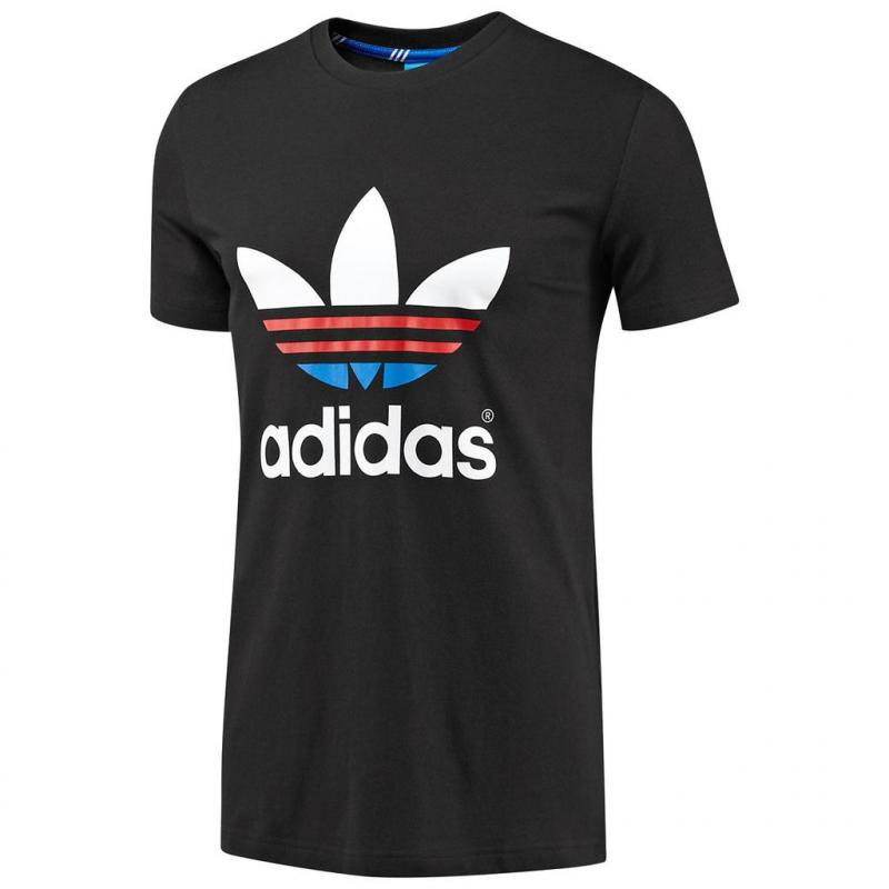 Pánske tričko s krátkym rukávom ADIDAS ORIGINALS-TREFOIL ODDITY   BLACK - f3e752121c1