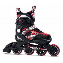 Detské kolieskové korčule FILA SKATES-J-ONE BLACK/RED