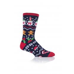 Pánské ponožky HEAT HOLDERS-MENS 1 PR LITE CHRISTMAS SOCKS 4-8 FESTIVAL fun-
