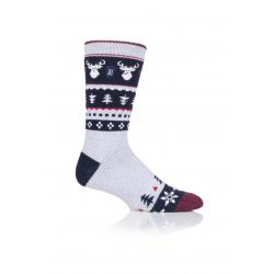 Pánské ponožky HEAT HOLDERS-MENS 1 PR LITE CHRISTMAS SOCKS 4-8 STAG-FESTIVAL