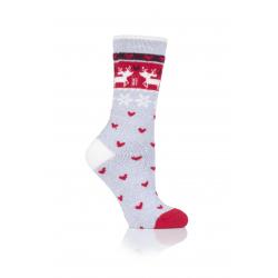 Dámské ponožky DRŽÁKY TEPELNĚ-LADIÍ 1 PR LITE VÁNOČNÍ VÍCE 4-8 REINDEER-F