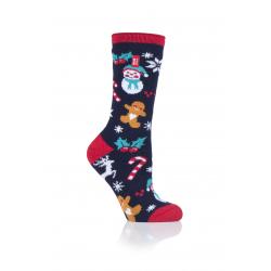 Dámské ponožky HEAT HOLDERS-LADIES 1 PR LITE CHRISTMAS SOCKS 4-8 FESTIVAL FU