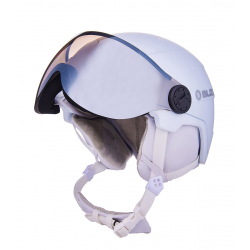 Dámska lyžiarska prilba so štítom BLIZZARD-Viva Double Visor ski helmet, white matt, smoke lens, mirror