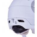 Dámska lyžiarska prilba so štítom BLIZZARD-Viva Double Visor ski helmet, white matt, smoke lens, mirror -