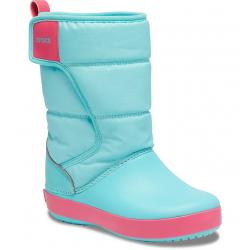 Dětská zimní obuv vysoká CROCS-LodgePoint Snow Boot K ice Blue / pool