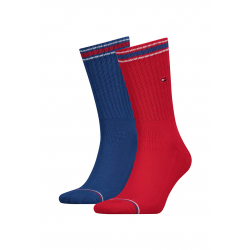 Pánske ponožky TOMMY HILFIGER-Men Iconic Sock Sports 2p Red