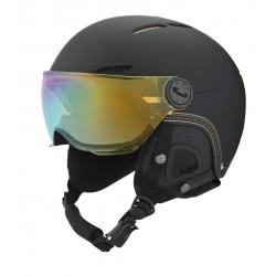 Dámská lyžařská helma se štítem Boll-JULIET VISOR-SOFT BLACK & GOLD