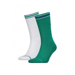 Pánske ponožky TOMMY HILFIGER-Men Iconic Sock Sports 2p Amazon Green