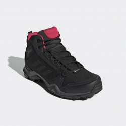 Dámska turistická obuv stredná ADIDAS-Terrex AX3 MID GTX black/cblack/actpink