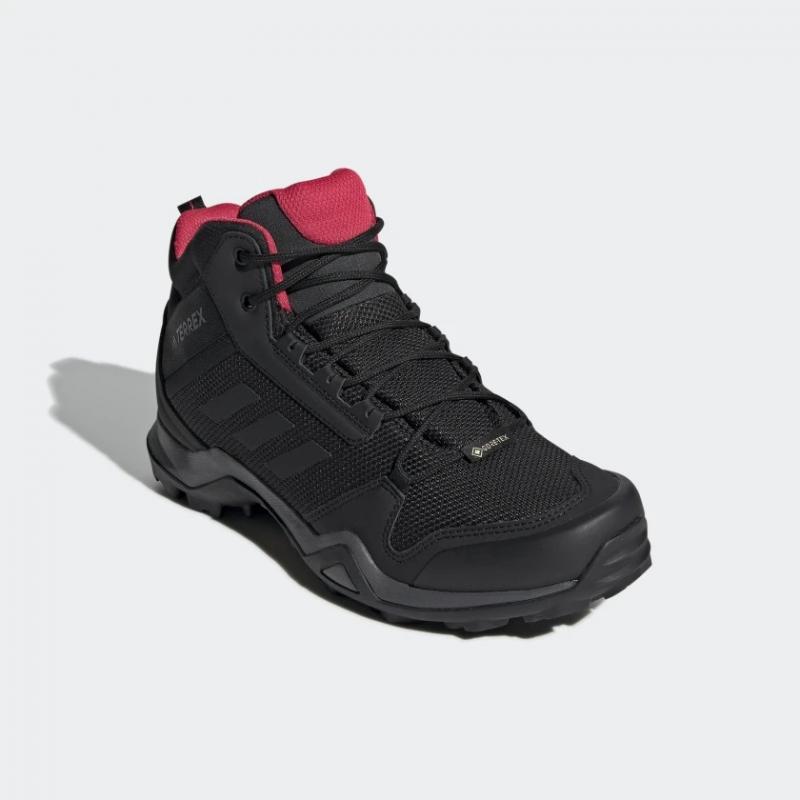 Dámska turistická obuv stredná ADIDAS-Terrex AX3 MID GTX black/cblack/actpink -