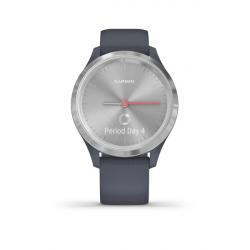 Monitor aktivity GARMIN-Vivomove 3S Blue/Silver, Silicone