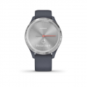 Monitor aktivity GARMIN-Vivomove 3S Blue/Silver, Silicone -