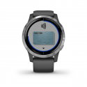 Monitor aktivity GARMIN-Vivoactive 4 Shadow Gray/Silver -