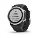 Monitor aktivity GARMIN-Fénix 6S, Silver, Black band -