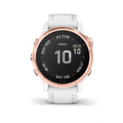 Monitor aktivity GARMIN-Fénix 6S PRO, Rose Gold, White band