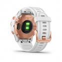 Monitor aktivity GARMIN-Fénix 6S PRO, růžové zlato, bílý pruh -