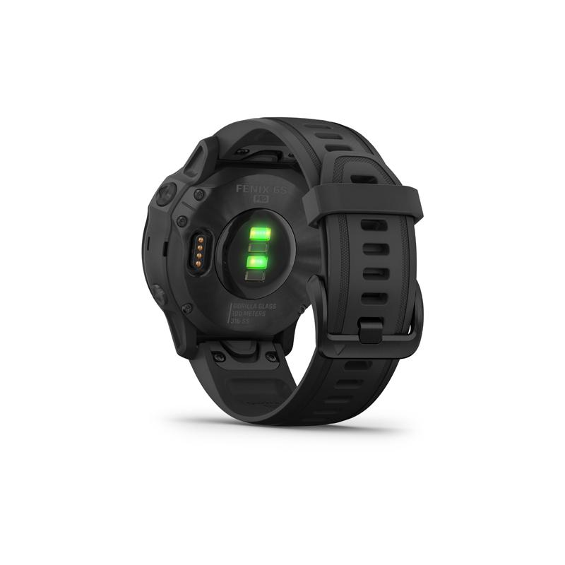 Monitor aktivity GARMIN-Fénix 6S PRO, černá, černá páska -