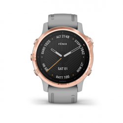 Monitor aktivity GARMIN-Fénix 6S Sapphire, Rose Gold-tone, Powder Gray Band