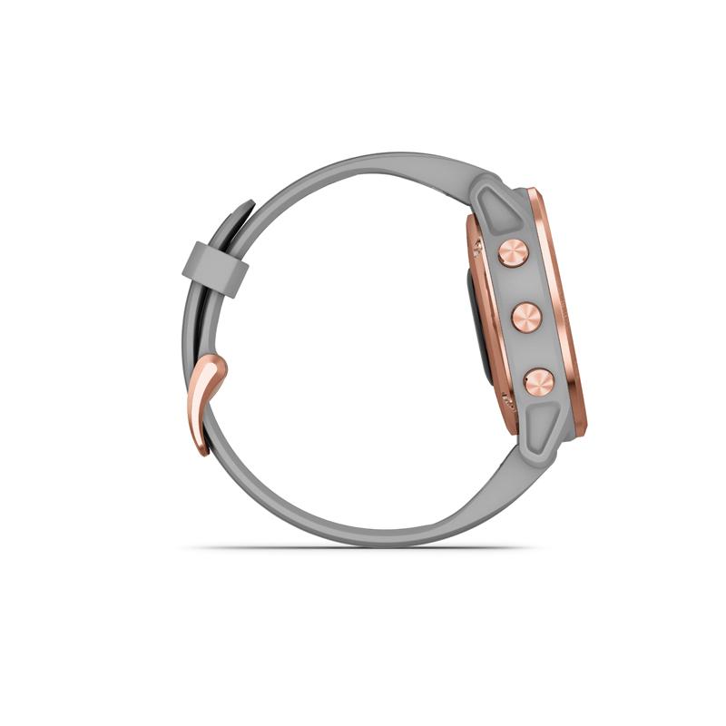 Monitor aktivity GARMIN-Fénix 6S Sapphire, Rose Gold-tone, Powder Gray Band -