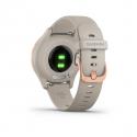 Monitor aktivity GARMIN-Vivomove 3S Light Sand / Rose Gold, Silikon -