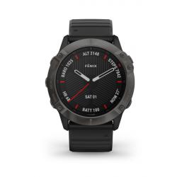 Sportovní hodinky GARMIN-fénix 6X Sapphire, Carbon Gray DLC, Black band
