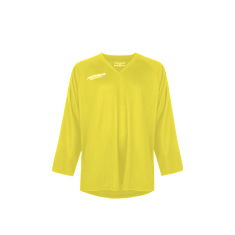 Hokejový dres s dlhým rukávom FISCHER-Practice Jersey yellow