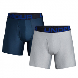 Pánske boxerky UNDER ARMOUR-Tech 6in 2 Pack-NVY