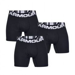 Pánske boxerky UNDER ARMOUR-Charged Cotton 6in 3 Pack-BLK