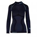 Dámske termo tričko s dlhým rukávom BLIZZARD-Viva long sleeve, anthracite/light blue -