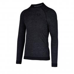 Pánské termo tričko s dlouhým rukávem BLIZZARD-Mens long sleeve, merino wool, anthracite