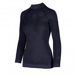 Dámské termo triko s dlouhým rukávem BLIZZARD-Viva long sleeve, merino wool, anthracite
