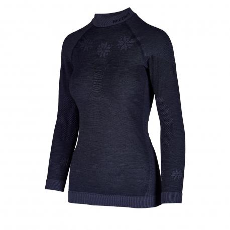 Dámske termo tričko s dlhým rukávom BLIZZARD-Viva long sleeve, merino wool, anthracite