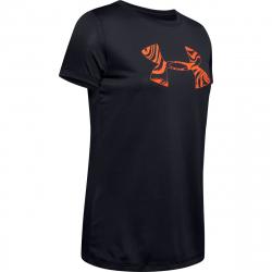 Dámske tréningové tričko s krátkym rukávom UNDER ARMOUR-Tech SSC Graphic -BLK