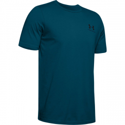 Pánské tréninkové triko s krátkým rukávem UNDER ARMOUR-UA Sportstyle LC Back Tee-GRN