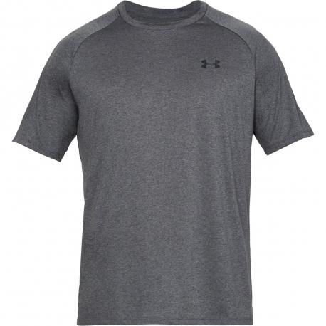 Pánske tréningové tričko s krátkym rukávom UNDER ARMOUR-UA Tech 2.0 SS Tee-GRY