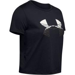 Dámské tréninkové tričko s krátkým rukávem UNDER ARMOUR-GRAPHIC FASHION BABY TEE LOGO-BLK