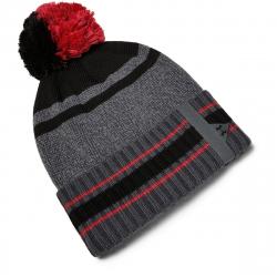 Pánská zimní čepice UNDER ARMOUR-Mens Pom Beanie -GRY