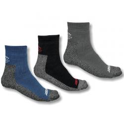 Běžecké ponožky SENSOR-Ponožky Treking 3-pack, šedá / černá / modrá 14/15