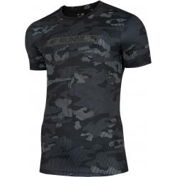 Pánské tréninkové triko s krátkým rukávem 4F-MEN-S FUNCTIONAL T-SHIRT MULTICOLOR ALLOVER-H4L20-TSMF0