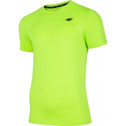 Pánské tréninkové triko s krátkým rukávem 4F-MEN-S FUNCTIONAL T-SHIRT CANARY GREEN NEON-NOSH4-TSMF002
