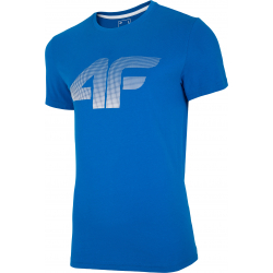 Pánské tréninkové triko s krátkým rukávem 4F-MEN-S T-SHIRT COBALT-NOSH4-TSM004-36S
