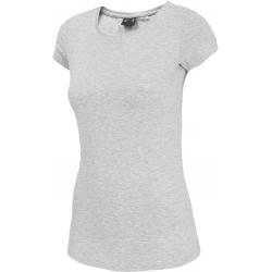 Dámské tréninkové tričko s krátkým rukávem 4F-WOMEN-S T-SHIRT COLD LIGHT GREY MELANGE-NOSH4-TSD001-27M