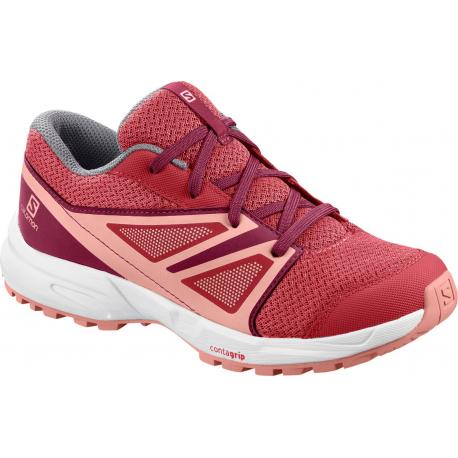 Juniorská športová obuv (tréningová) SALOMON-Sence JR garnet rose/beet red/coral almond