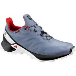 Pánska trailová obuv SALOMON-Supercross GTX flint/bk/high risk red