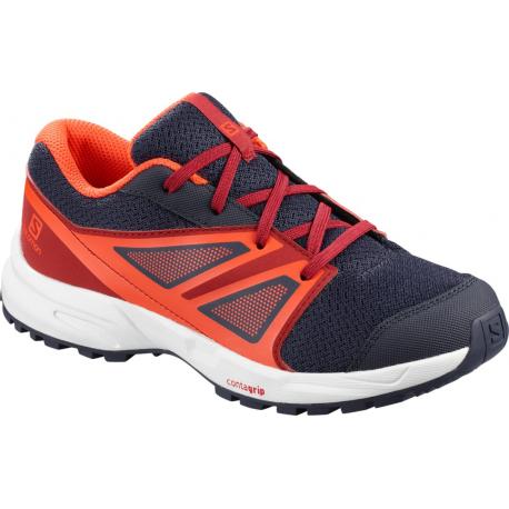 Juniorská športová obuv (tréningová) SALOMON-Sence JR ev blue/rd dahlia/cherry to