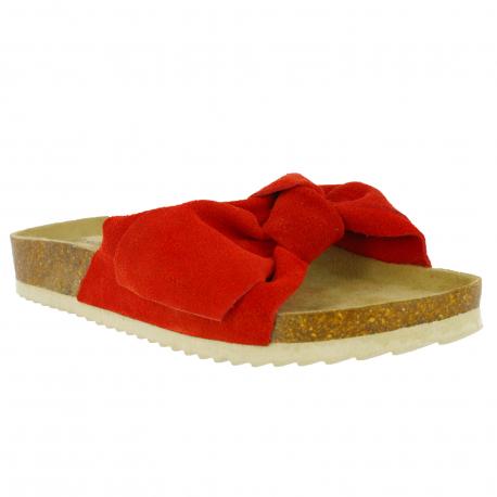 Dámske dreváky (módna obuv) V+J-Luvia red