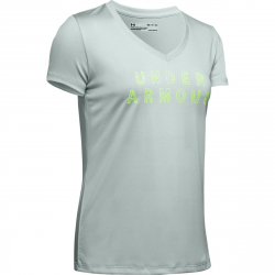 Dámske tréningové tričko s krátkym rukávom UNDER ARMOUR-Tech SSV - Graphic-GRN