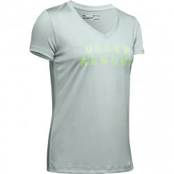 Dámské tréninkové tričko s krátkým rukávem UNDER ARMOUR-Tech SSV - Graphic-GRN