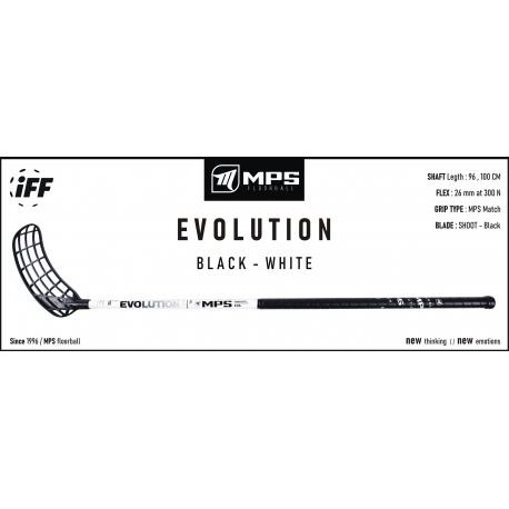Florbalová hokejka MPS-EVOLUTION - White L